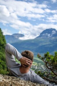 relaxation, mountains, top view